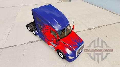 La piel de Optimus Prime camión Kenworth para American Truck Simulator