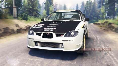 Subaru Impreza STi 2007 para Spin Tires