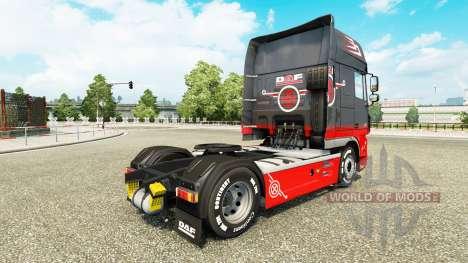 Gris Rojo de la piel para DAF camión para Euro Truck Simulator 2