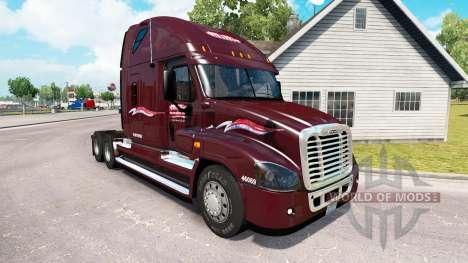 La piel Millis en el tractor Freightliner Cascad para American Truck Simulator