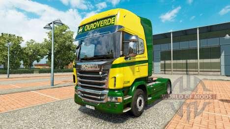 El Ouro Verde Transportes de la piel para Scania para Euro Truck Simulator 2
