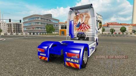 El Sueño americano de piel para HOMBRE camión para Euro Truck Simulator 2