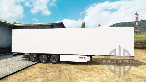 Refrigerado semi-remolque Kogel para Euro Truck Simulator 2