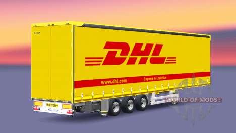 Semitrailer Wielton DHL para Euro Truck Simulator 2