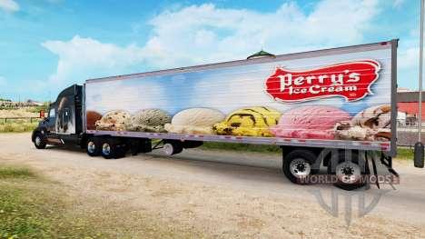 La piel Perrys Helado en el semirremolque-el ref para American Truck Simulator