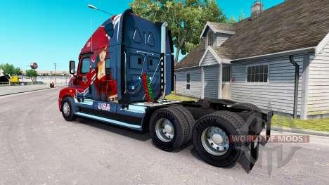 La piel Mandy en tractor Freightliner Cascadia para American Truck Simulator
