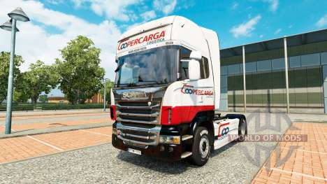 Coopercarga Logistica de la piel para Scania cam para Euro Truck Simulator 2