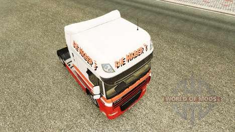 La Nabers skin for DAF truck para Euro Truck Simulator 2