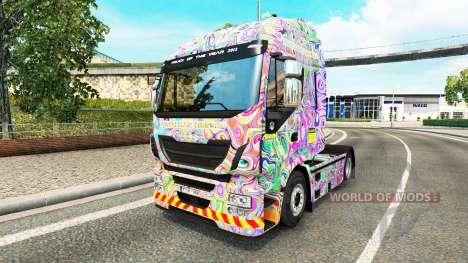 La piel Psicodélico en el camión Iveco para Euro Truck Simulator 2