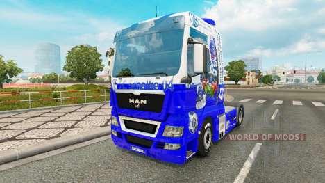 La piel FC Schalke 04 en el tractor HOMBRE para Euro Truck Simulator 2