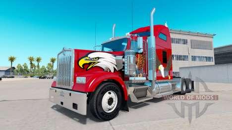 La piel Águila en el camión Kenworth W900 para American Truck Simulator