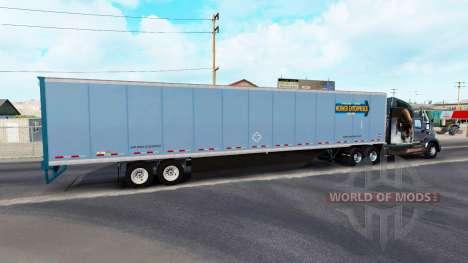 De metal semi-remolque para American Truck Simulator