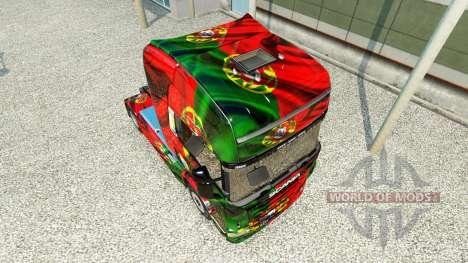 La piel de Copa de Portugal 2014 para Scania cam para Euro Truck Simulator 2