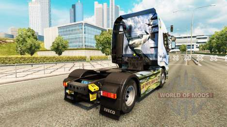 La piel de la Supermarine Spitfire en el camión  para Euro Truck Simulator 2