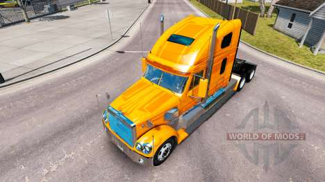 La piel Metálica del camión Freightliner Coronad para American Truck Simulator