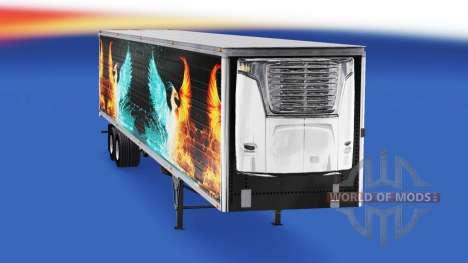 La piel CS Logística 01 en el semirremolque-el r para American Truck Simulator