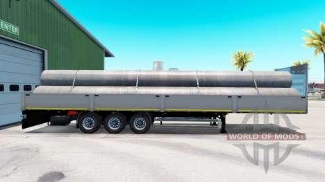 Plataforma semi-remolque Kogel con diferentes ca para American Truck Simulator