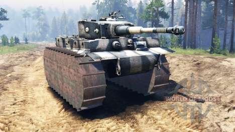 Panzerkampfwagen VI Tiger para Spin Tires