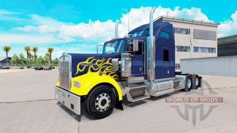 La piel en Duro tractocamión Kenworth W900 para American Truck Simulator