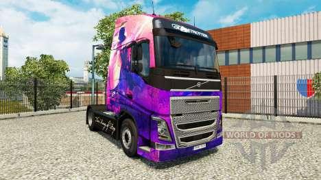 Michael Jackson piel para camiones Volvo para Euro Truck Simulator 2