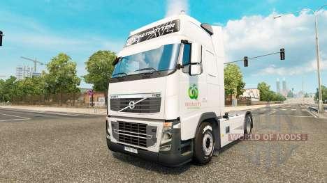 La piel Woolworths para camiones DAF, Scania y V para Euro Truck Simulator 2