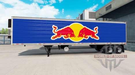 La piel de Red Bull en el semirremolque-el refri para American Truck Simulator