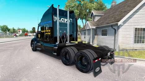 LCPD de la piel para el camión Peterbilt para American Truck Simulator