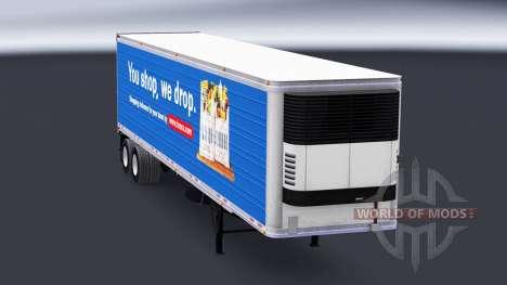 La piel de Tesco en el semirremolque-el refriger para American Truck Simulator