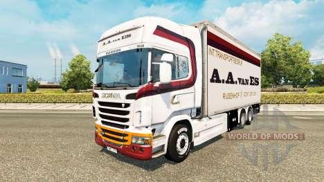 La piel de A. A. van ES para tractor Scania Tánd para Euro Truck Simulator 2
