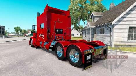 Skin 29 Budweiser Peterbilt tractor 389 para American Truck Simulator