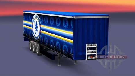 La piel, el Chelsea FC, v1.3 en el remolque para Euro Truck Simulator 2