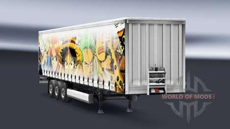 La piel de Una sola Pieza en el remolque para Euro Truck Simulator 2