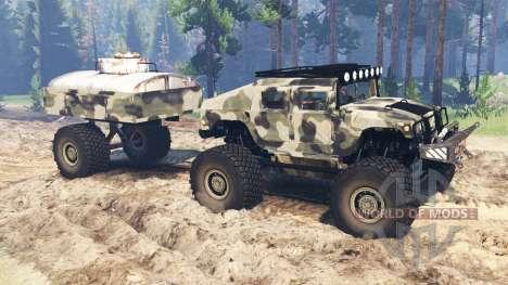 Hummer H1 para Spin Tires