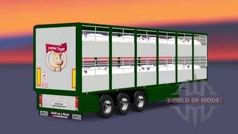 Semirremolque-ganado portador Ferkel Trans v2.0 para Euro Truck Simulator 2