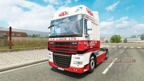La Piel G. J. Jack Ltd. DAF para Euro Truck Simulator 2