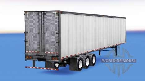 De metal de tres ejes con semi-remolque para American Truck Simulator