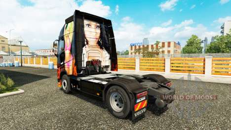Nicki Minaj piel para camiones Volvo para Euro Truck Simulator 2