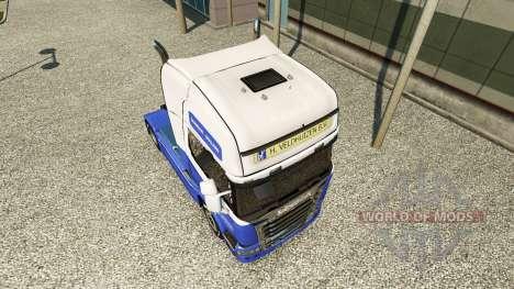El H. Veldhuizen BV de la piel para Scania camió para Euro Truck Simulator 2