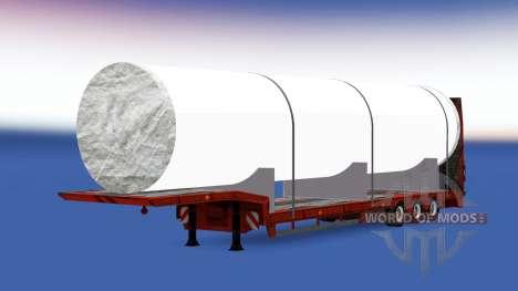 Bajo el barrido con una gran pipa blanca para American Truck Simulator