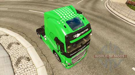 Flecha verde de la piel para camiones Volvo para Euro Truck Simulator 2