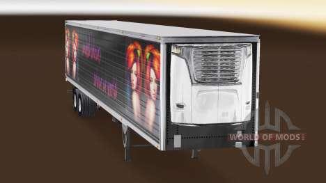 La piel de los Estados Colores para la semi-refr para American Truck Simulator