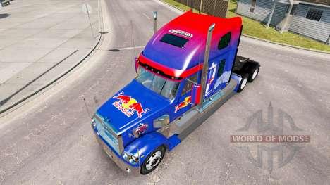 Rojo de la piel de Toro para la Freightliner Cor para American Truck Simulator