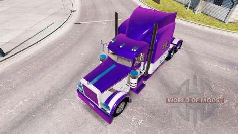 La piel de color Malva y Blanco para el camión P para American Truck Simulator