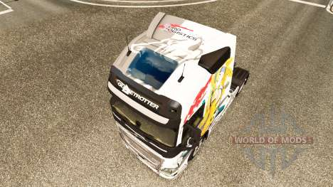 La piel del Euro Logística en Volvo trucks para Euro Truck Simulator 2