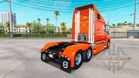 La piel Holland tractor Volvo VNL 670 para American Truck Simulator