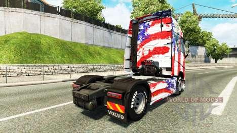 USA la piel para camiones Volvo para Euro Truck Simulator 2