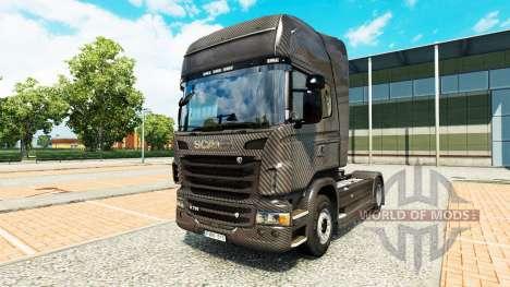 Carbono de la piel para Scania camión para Euro Truck Simulator 2