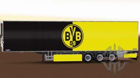 Semirremolque Chereau Borussia Dortmund para Euro Truck Simulator 2