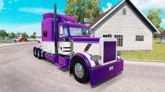 La piel de color Malva y Blanco para el camión P