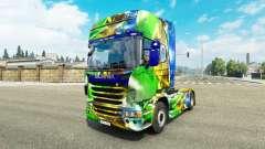 La piel de Brasil 2014 para Scania camión